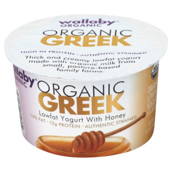 Wallaby Organic Organic Greek Lowfat with Honey Yogurt