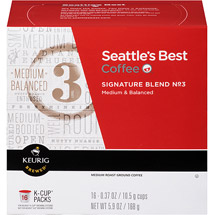 Seattle's Best Coffee Signature Blend No. 3 Medium Roast Coffee K-Cup Packs