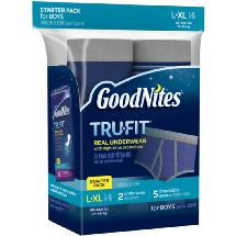 GoodNites TruFit Bedwetting Underwear for Boys L/XL