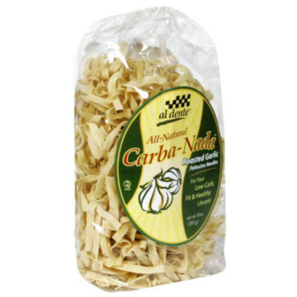 Al Dente All Natural Carba-Nada Roasted Garlic Fettuccine Noodles