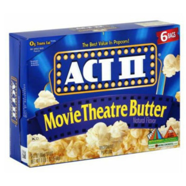 Act II Movie Theater Butter Microwave Popcorn