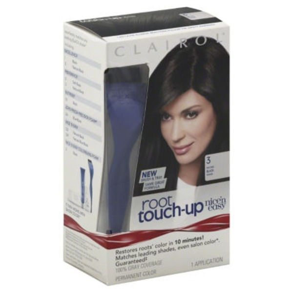 Clairol Root Touch-up Clairol Nice 'n Easy Root Touch-Up, 3 Black, Permanent Hair Color, 1 Kit Female Hair Color