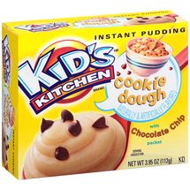 Kid's Kitchen Cookie Dough Instant Pudding with Chocolate Chip Packet