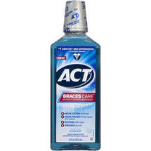 ACT Braces Care Clean Mint Anticavity Fluoride Mouthwash