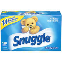 Snuggle Blue Sparkle With Fresh Release Fabric Softener Dryer Sheets