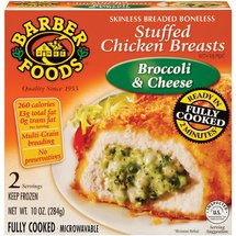 Barber Foods Broccoli & Cheese 2 Servings Stuffed Chicken Breasts