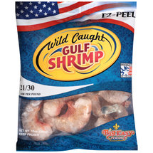 Wild Caught Raw Gulf Shrimp 21-30 per lb