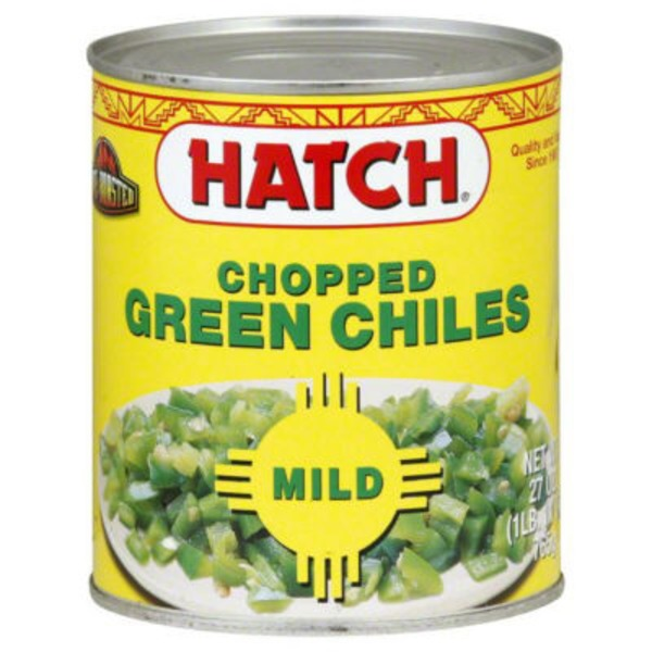 Hatch Green Chiles, Chopped, Fire Roasted, Mild