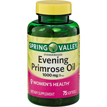 Spring Valley Women's Health Evening Primrose Oil Dietry Supplement Softgels