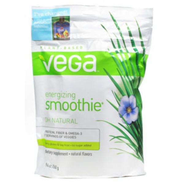Vega Oh Natural Flavor Protein Smoothie Instant Powder Drink Mix