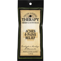 Village Naturals Aches & Pains Relief Mineral Bath Soak Eucalyptus Rosehips & Chamomile