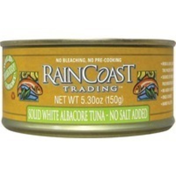 Raincoast Rain Coast Tuna Solid White Albacore No Salt Added