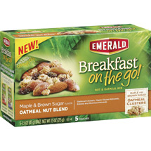 Emerald Breakfast on the Go! Maple & Brown Sugar Oatmeal Nut Blend