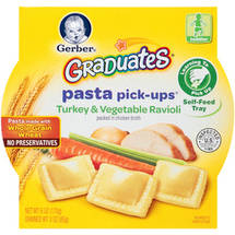 Gerber Graduates Pasta Pick-Ups Turkey & Vegetable Ravioli Turkey