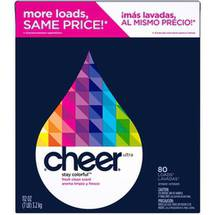 Cheer Fresh Clean Scent Powder Detergent 80 Loads 113 Oz