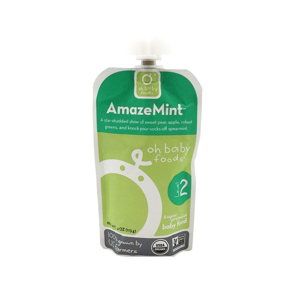 Oh Baby Foods Organic Amaze Mint Baby Food