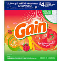 Gain Ultra With FreshLock Apple Mango Tango Powder Detergent 63 Loads