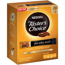 Taster's Choice Hazelnut Instant Coffee Single Serve Packets