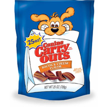Canine Carry Outs Bacon and Cheese Flavor Dog Snacks
