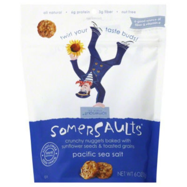 Somersaults Snack Co Crunchy Sunflower Seed Bites Sea Salt