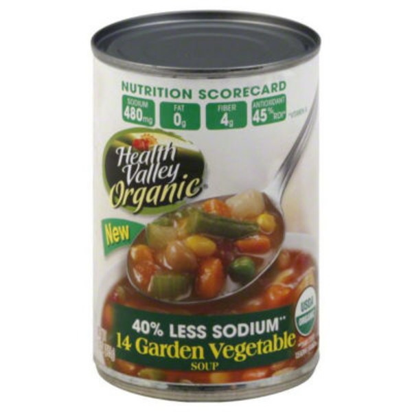 Health Valley Organic Soup Garden Vegetable 40% Less Sodium