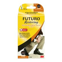 Futuro Microfiber Dress Socks for MenBlack /Large /1 pair