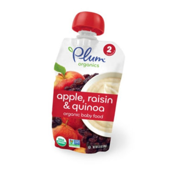 Plum Baby Apple Raisin & Quinoa Stage 2 Baby Food