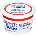 Great Value All Natural Sour Cream