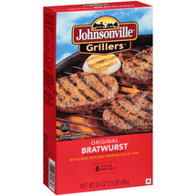 Johnsonville Grillers Original Bratwurst Patties
