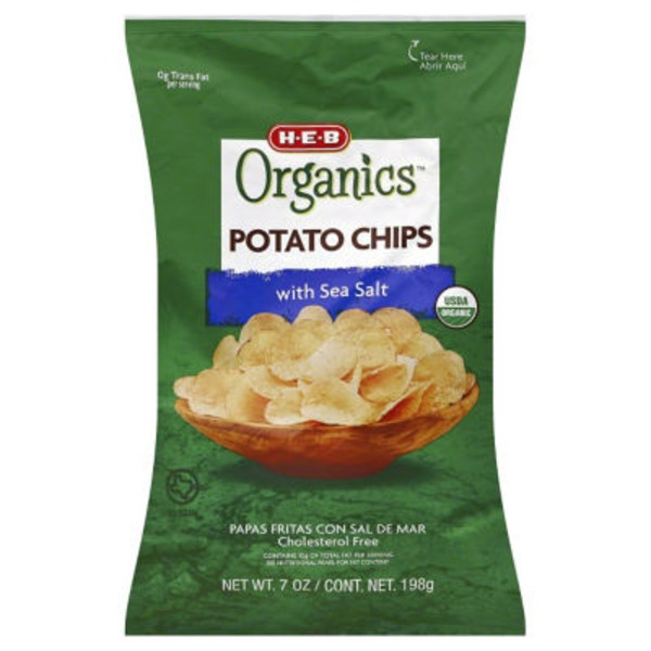 H-E-B Organics. Sea Salt Potato Chips