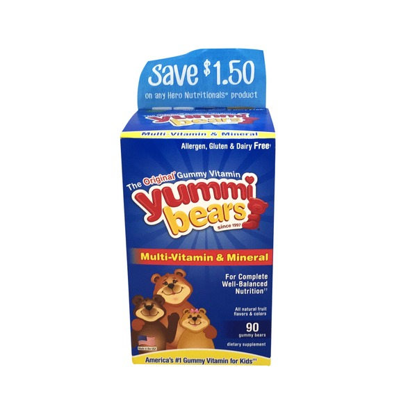 Yummi Bears Complete Multi-Vitamin Gummy Bears Dietary Supplement
