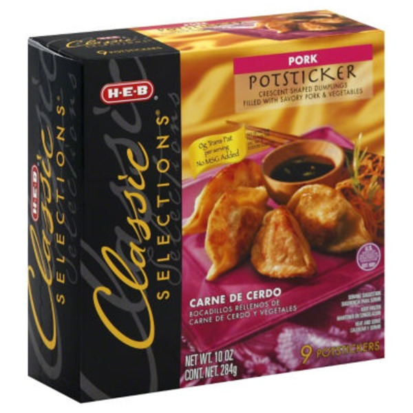 H-E-B Classic Selections Pork Potstickers