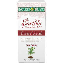 Nature's Bounty Earthly Elements Thrive Blend Aromatherapy 100% Pure Essential Oils