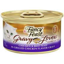 Purina Fancy Feast Gravy Lovers Chicken and Beef Feast Cat Food