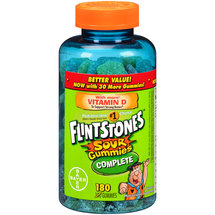 Flintstones Sour Gummies Complete Children's Multivitamin Supplement