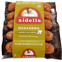 Aidells Habenero Smoked Chicken Sausage with Pepper Jack Cheese