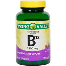 Spring Valley Sublingual B12 Vitamin Supplement Microlozenges
