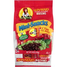 Sun-Maid Natural California Raisins Mini-Snacks