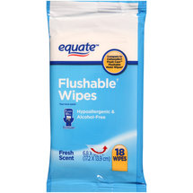 Equate Fresh Scent Flushable Wipes