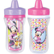 The First Years Meal Mates Minnie Mouse Insulated 9 oz Sippy Cup BPA Free