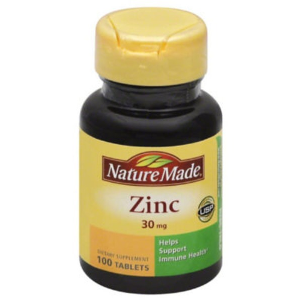 Nature Made Zinc 30mg Dietary Supplement Tablets - 100 CT