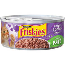 Friskies Classic Pate Turkey & Giblets Dinner Cat Food