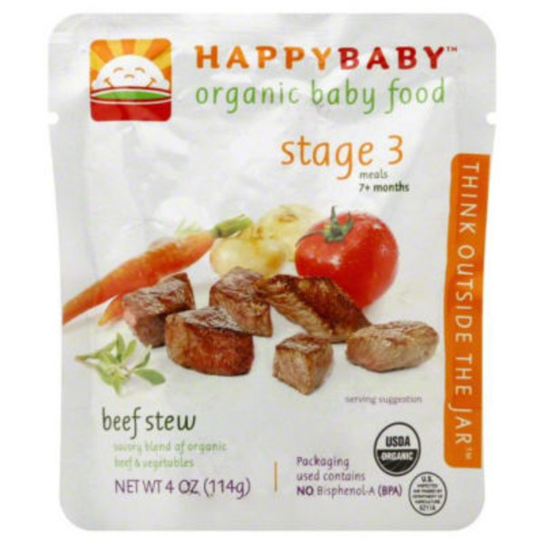 Happy Baby/Family Hearty Meals Vegetable & Beef Medley with Quinoa Organic Baby Food