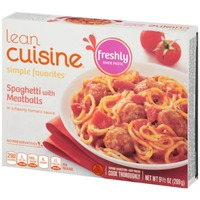 Lean Cuisine Favorites Spaghetti with meatballs in a hearty tomato sauce. Spaghetti with Meatballs
