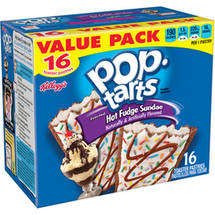 Kellogg's Pop Tarts Ice Cream Shoppe Frosted Hot Fudge Sundae Toaster Pastries