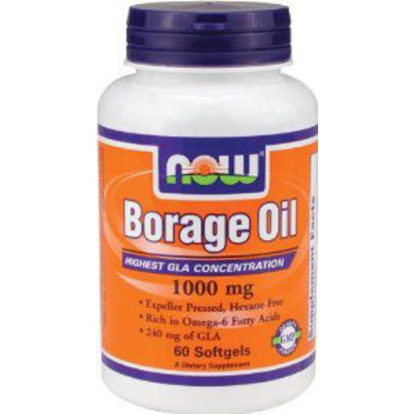 Now Borage Oil 1000 mg Softgels