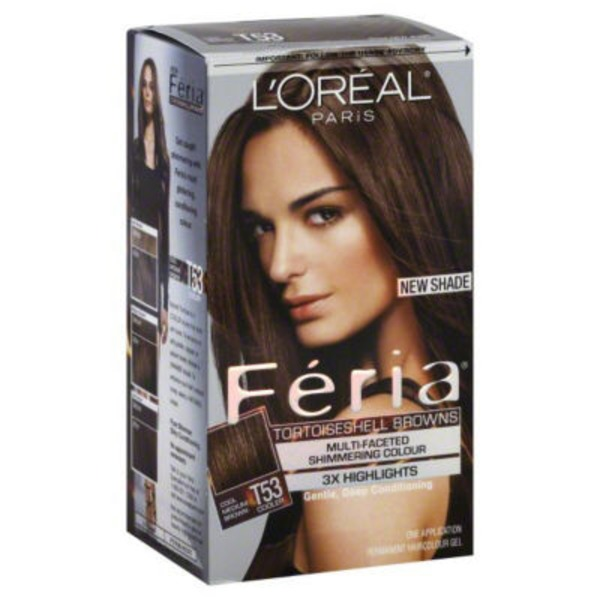 Feria Multi-Faceted Shimmering Colour Tortoiseshell Browns Cool Medium Brown T53 Hair Color