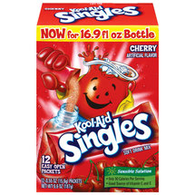 Kool-Aid Singles Cherry Flavored Drink Mix