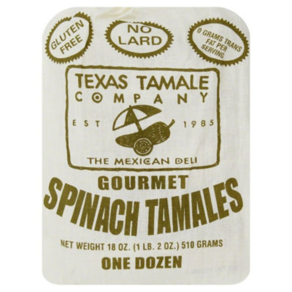 Texas Tamale Company Spinach With Cheese Tamales
