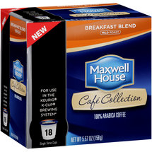 Maxwell House Cafe Collection Breakfast Blend Mild Roast Coffee Single Serve Cups